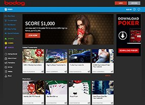 Bodog Poker Screen
