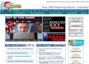 5Dimes Racebook Screen