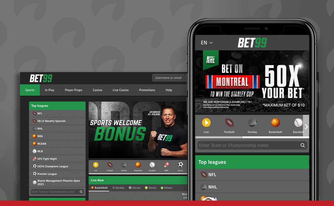 A Bet99 review screenshot displays how the site appears to users.