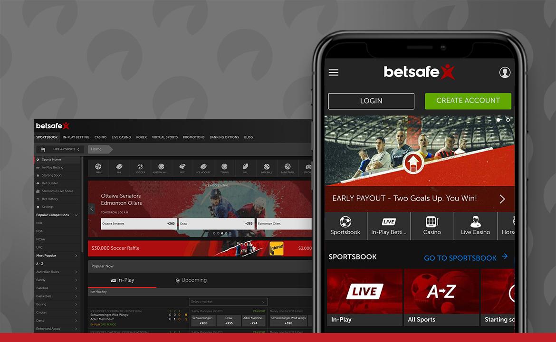 A screenshot from Betsafe.