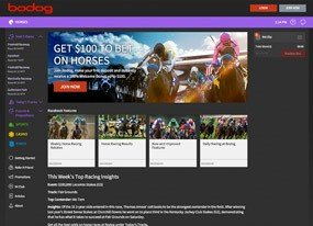 Bodog Racebook Screen