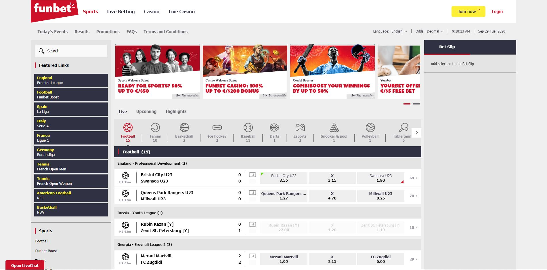 A Funbet review screenshot displays how the site appears to users.