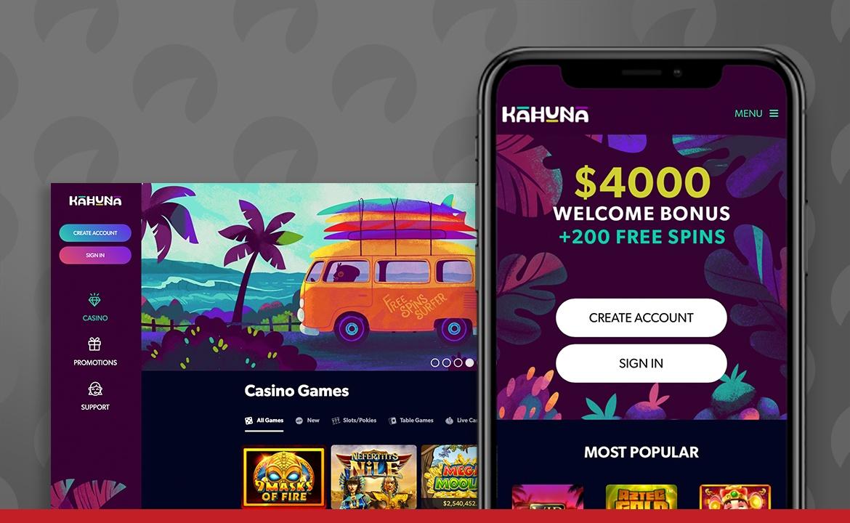 Kahuna Casino Screenshot
