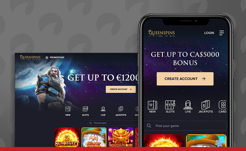 Queenspins Casino Screenshot