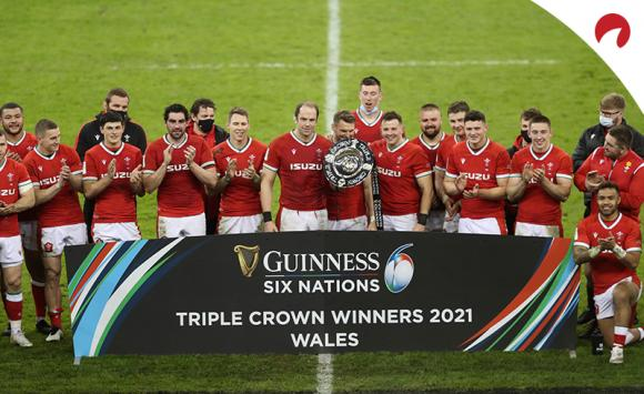 Wales celebrating its triple crown is the favorite in the Rugby Six Nations odds.