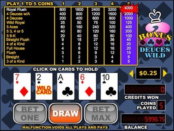 Spiele Bonus Poker (Five Hand) - Video Slots Online