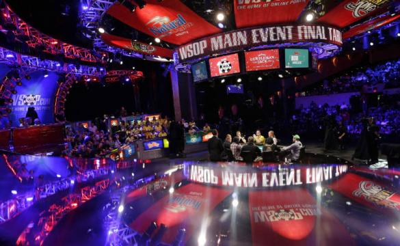 The World Series of Poker main event is shown via TV broadcast.