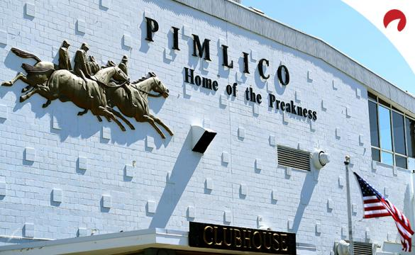 The clubhouse at Pimlico, home of the Preakness Stakes horse race.