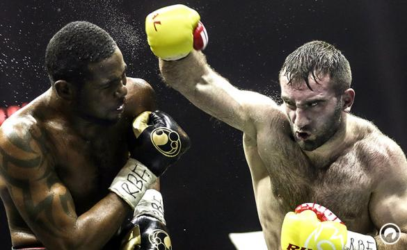 Murat Gassiev hits Yunier Dorticos during their World Boxing Super Series semifinals.
