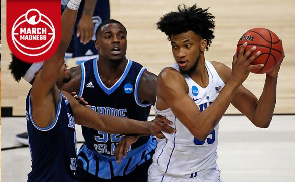 Duke's Marvin Bagley III grabs a reboundduring the second half of an NCAA men's college basketball tournament second-round game