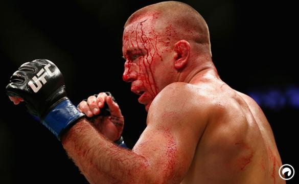 Georges St-Pierre stands inside the Octagon at UFC 217 vs Michael Bisping