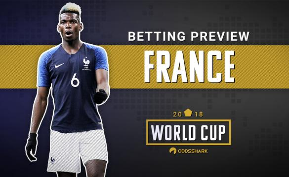 Breakdown of France betting odds for 2018 FIFA World Cup.