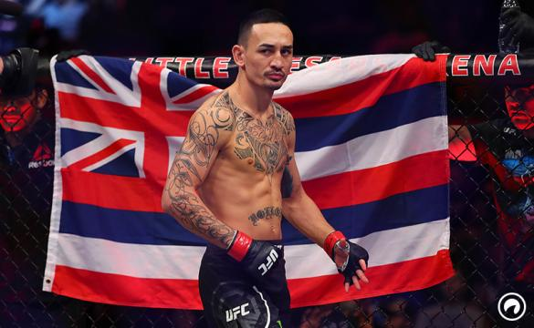 Max Holloway prior to his fight with Jose Aldo of Brazil during UFC 218