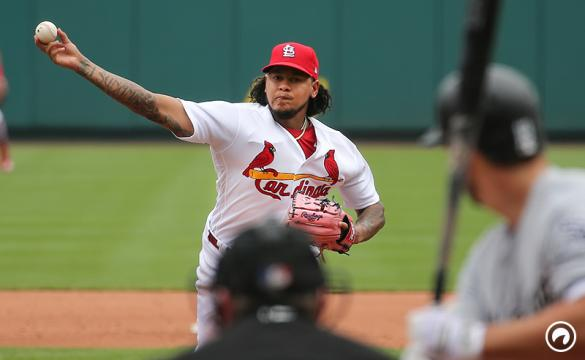 St. Louis Cardinals starting pitcher Carlos Martinez delivers a pitch against the Chicago White Sox