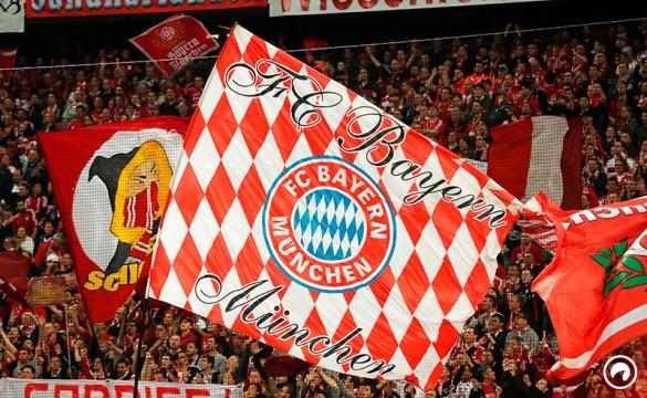 Bayern Munich supporters wave huge banners prior the UEFA Champions League 1st leg quarter-final football match FC Bayern Munich v Real Madrid in Munich, southen Germany on April 12, 2017. Security was ratcheted up in Munich, one day after three explosions rocked the team bus of German football club Borussia Dortmund minutes after the bus set off to a planned Champions League game against Monaco on Tuesday night (April 11, 2017).