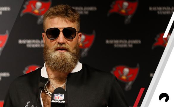 Ryan Fitzpatrick is interviewed after another huge performance against the Eagles in Week 2