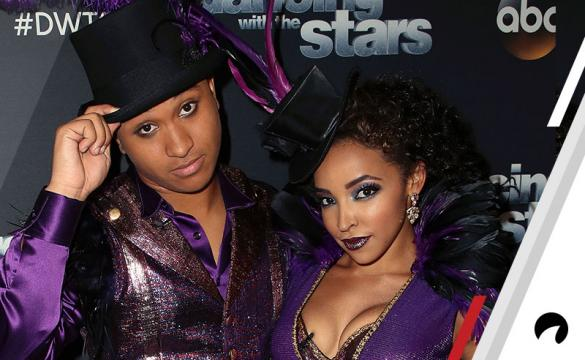 Brandon Armstrong (L) and Tinashe pose at 'Dancing with the Stars' Season 27 at CBS Televison City on October 2, 2018 in Los Angeles, California.