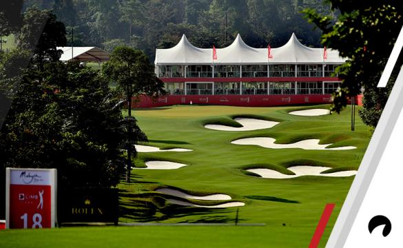A general view of the 18th hole ahead of the CIMB Classic at TPC Kuala Lumpur on October 9, 2018 in Kuala Lumpur, Malaysia.