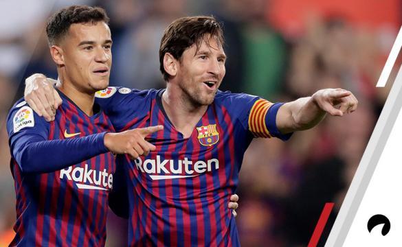 Philippe Coutinho Lionel Messi Odds to win La Liga 2018-19 title soccer