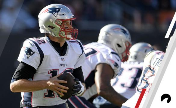 Brady Takes a Snap During the Patriots Win at Soldier Field