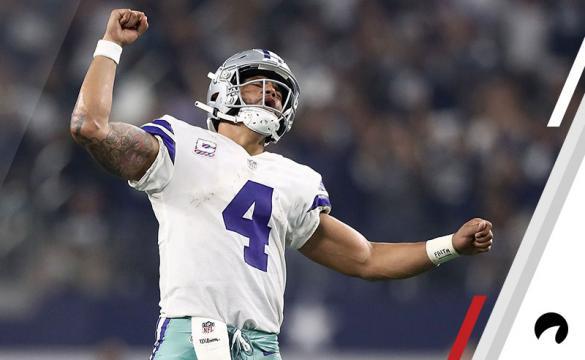 Dak Prescott Celebrates a touchdown in a win against the Jaguars