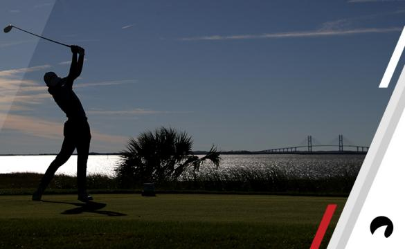 Aaron Wise of United States plays his shot from the 14th tee during the final round of The RSM Classic at Sea Island Golf Club Seaside Course on November 19, 2017 in St Simons Island, Georgia.
