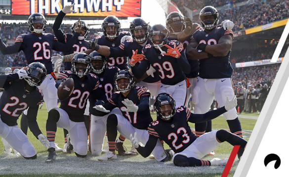 Chicago Bears cornerback Bryce Callahan (37) celebrates an interception with his teammates during the first half of an NFL football game against the Detroit Lions Sunday, Nov. 11, 2018, in Chicago.