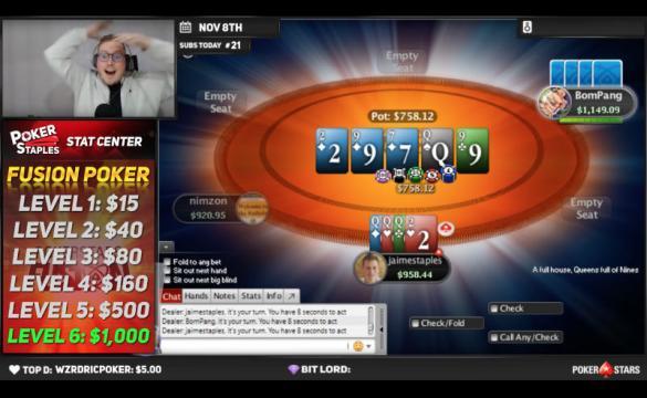 Jaime Staples Fusion Poker