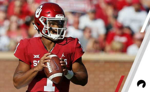 Oklahoma quarterback Kyler Murray (1) during an NCAA college football game between Kansas State and Oklahoma in Norman, Okla., Saturday, Oct. 27, 2018