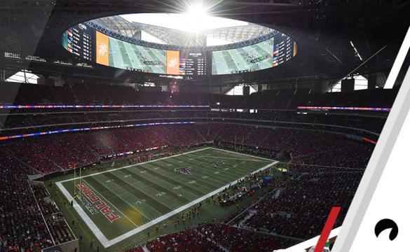 The Atlanta Falcons play the Baltimore Ravens in the Mercedes-Benz stadium during the second half of an NFL football game, Sunday, Dec. 2, 2018, in Atlanta.