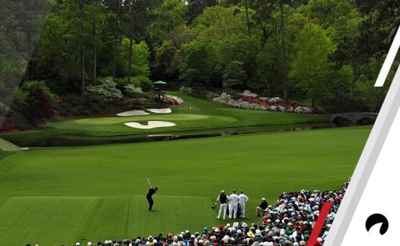 Tiger Woods of the United States plays his first shot from the 12th hole during the final round of the 2018 Masters Tournament at Augusta National Golf Club on April 8, 2018 in Augusta, Georgia.