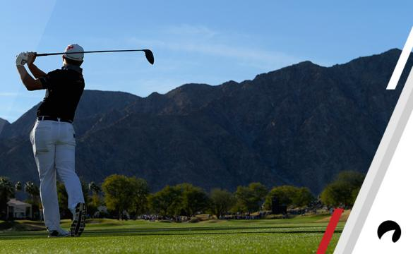 Austin Cook plays his shot from the 15th tee during the final round of the CareerBuilder Challenge at the TPC Stadium Course at PGA West on January 21, 2018 in La Quinta, California.
