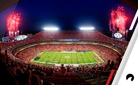 Fireworks shoot off before the game between the Washington Redskins and Kansas City Chiefs at Arrowhead Stadium on October 2, 2017 in Kansas City, Missouri.