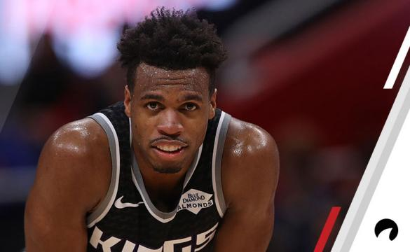 Buddy Hield #24 of the Sacramento Kings looks to the sidelines during the first quarter of the game against the Detroit Pistons at Little Caesars Arena on January 19, 2019 in Detroit, Michigan