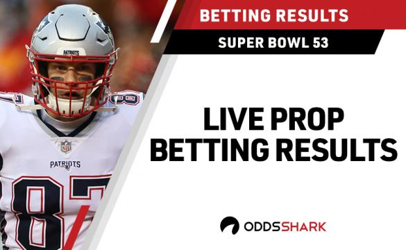 Super Bowl 53 Live Prop Bet Results