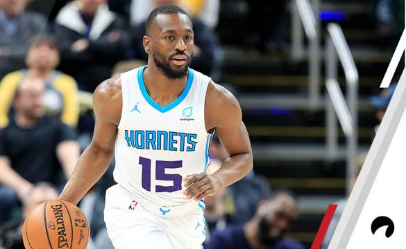 Kemba Walker #15 of the Charlotte Hornets dribbles the ball against the Indiana Pacers at Bankers Life Fieldhouse on February 11, 2019 in Indianapolis, Indiana.