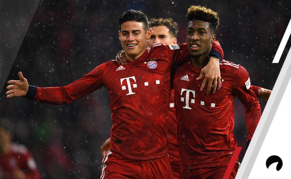 James Rodriguez Kingsley Coman Bayern Munich Odds to win 2018-19 Bundesliga title German soccer