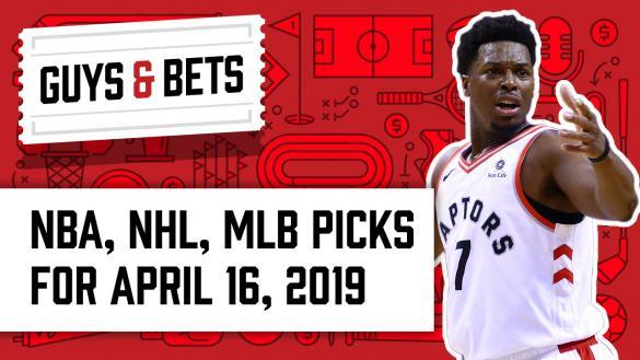 OddsShark Guys & Bets Toronto Raptors Kyle Lowry Andrew Avery Kris Abbott
