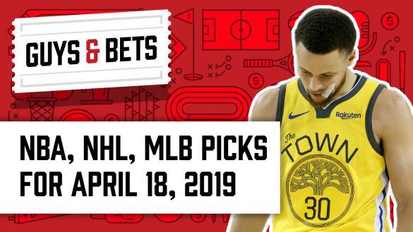 OddsShark Guys & Bets Jonny OddsShark Kris Abbott Steph Curry Golden State Warriors NBA Playoffs