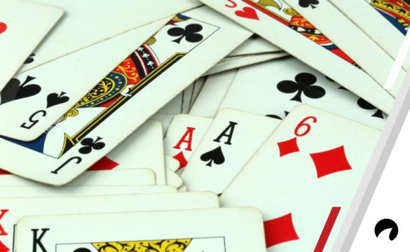 A range of different poker hands.
