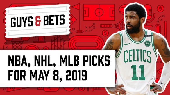 Odds Shark Guys & Bets Jonny OddsShark Kris Abbott Kyrie Irving Boston Celtics
