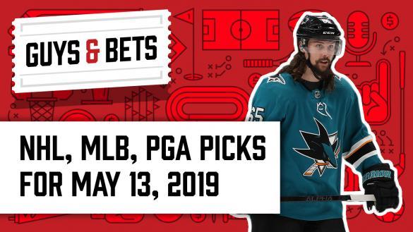 Odds Shark Guys & Bets Jonny OddsShark Kris Abbott Erik Karlsson San Jose Shark Stanley Cup Playoffs