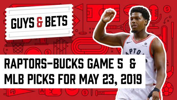 Odds Shark Guys & Bets Joe Osborne Kris Abbott Andrew Avery Chalk Ninja Kyle Lowry NBA Playoffs Toronto Raptors