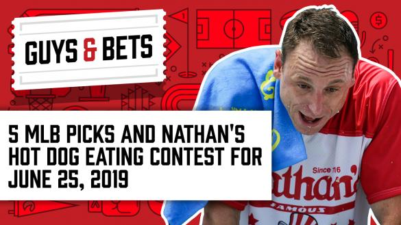 Odds Shark Guys & Bets Joe Osborne Gilles Gallant MLB Betting Odds Joey Chestnut Hot Dog Eating Contest Betting Odds