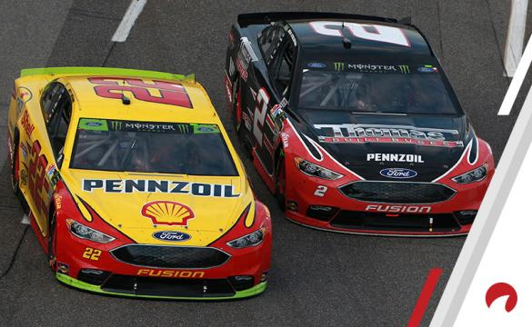 Joey Logano (left) and Brad Keselowski (right) are co-favorites in the Daytona International Speedway Odds.