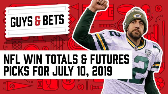 Odds Shark Guys & Bets Joe Osborne Kris Abbott Andrew Avery 2019 NFL Betting Win Totals Futures Odds Aaron Rodgers Green Bay Packers