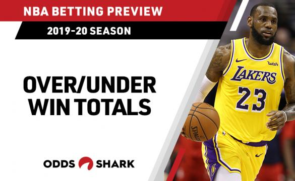 NBA OVER UNDER Win Totals August 19 2019