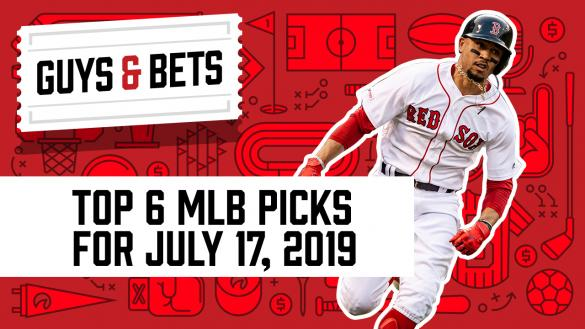 Odds Shark Guys & Bets Joe Osborne Kris Abbott Andrew Avery MLB Betting MLB Picks MLB Odds Mookie Betts Boston Red Sox