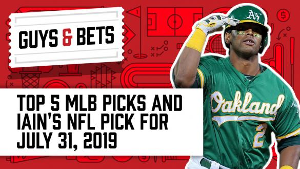 Odds Shark Guys & Bets Joe Osborne Kris Abbott Andrew Avery Iain MacMillan Khris Davis Oakland A's MLB Betting Odds Picks