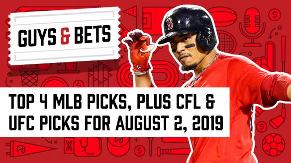 Odds Shark Guys & Bets Kris Abbott Iain MacMillan Andrew Avery Mookie Betts Boston Red Sox